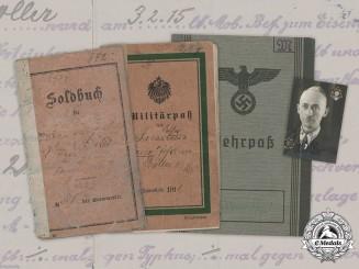 Germany, Wehrmacht. A Document Group to Georg Johann Möller