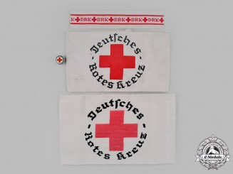 Germany, DRK. A Lot of German Red Cross (DRK) Insignia