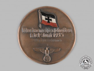 Germany, Kriegsmarine. A 1935 Kriegsmarine Kiel Swimming Competition First Place Medal