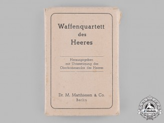 Germany, Heer. A Heer Equipment Card Game by Dr. M. Matthiesen & Co., with Case