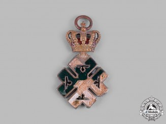 Romania, Kingdom. An Order of Ferdinand I, Miniature with Fire Damage
