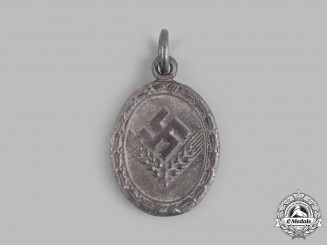Germany, Third Reich. A Reich Labour Service of Young Women (RADwJ) Medal for 18 Years' Service, Silver Grade, Miniature