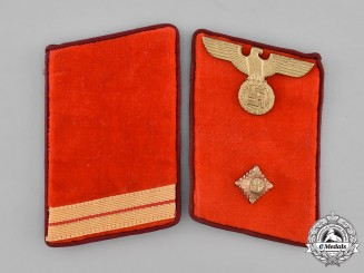 Germany, NSDAP. A Pair of Gau-Level Collar Tabs