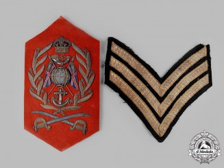 United Kingdom. A Royal Marines Drum Major's Insignia and Rank Chevrons, c.1910