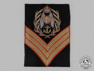 United Kingdom. A Fine Royal Marines Company Sergeant Rank Insignia ,c.1910