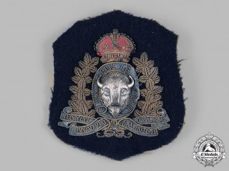 Canada. A Fine Royal Canadian Mounted Police (RCMP) Blazer Crest, c.1935