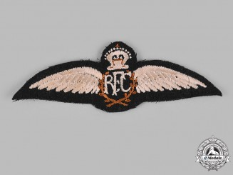 Canada. A Royal Flying Corps (RFC) Camp Borden Pilot's Badge, c. 1917-1918, Published Example