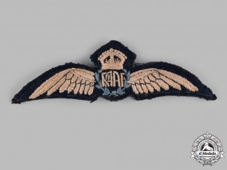 Australia. A Royal Australian Air Force (RAAF) Pilot's Badge, c.1940