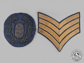United Kingdom. A Royal Air Force Drum Major's Sleeve Insignia