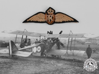 Australia. A RFC Pilot Wing Attributed to DFC Recipient Lieutenant Simpson, 3rd Squadron, AFC