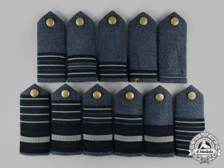 United Kingdom. A Set of Eleven Royal Air Force (RAF) Commissioned Ranks Shoulder Boards