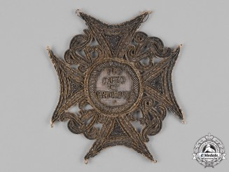 Saxony, Kingdom. A Cathedral of St. Johannes and St. Donati Star, Embroidered Version, c.1860