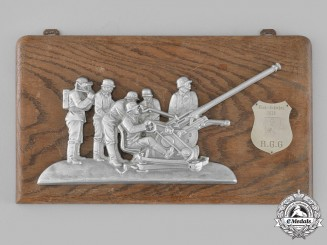 Germany, Luftwaffe. A Rare 1938 Regiment General Göring Flak Shooting Plaque