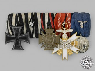 Germany, Third Reich. An Olympic Decoration Medal Bar