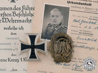 Germany, Heer. A Pair of Medals and Award Documents to Leutnant Bernhard Nagel