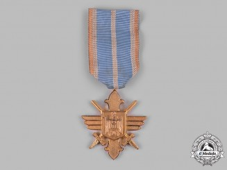 Romania, Kingdom. An Air Force Merit Cross, I Class with Swords