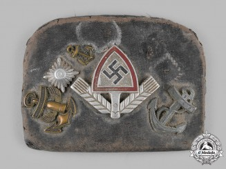 Germany, Third Reich. A Veteran-Customized Change Purse with Third Reich Insignia