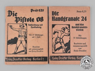 Germany, Third Reich. A Pair of Weapon Instruction Manuals by Heinz Denckler
