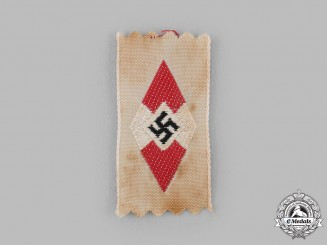 Germany, HJ. A Cloth Cap Insignia
