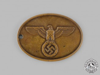 Germany, SS. A Kriminalpolizei Warrant Disc
