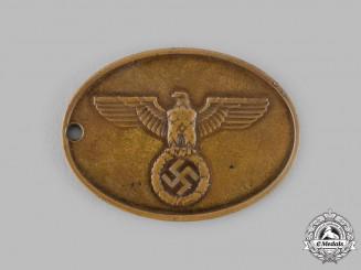 Germany, SS. A Kriminalpolizei Warrant Disc
