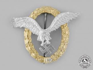 Germany, Luftwaffe. A Pilot & Observer Badge in Aluminum, by C.E. Juncker
