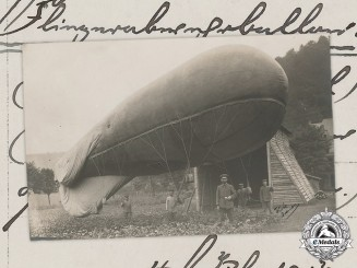 Germany, Imperial. A First World War Air Balloon Postcard, c.1917