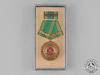 Germany, DDR. A Customs Administration of the German Democratic Republic Honoured Employee Medal, with Case