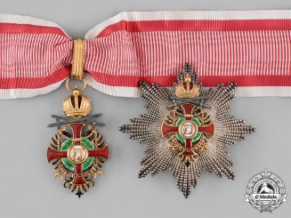 Austria, Imperial. An Order of Franz Joseph, Commander with Lower Grade War Decoration and Swords (Rothe Copy)