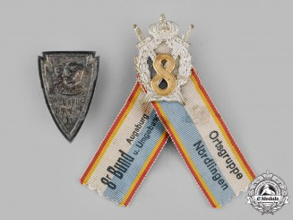 Bavaria, Kingdom. A Pair of First War Regimental Badges