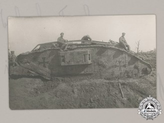 Germany, Imperial. A First War Period English Reclaimed Tank Postcard