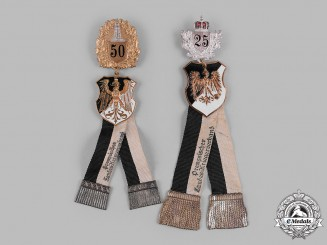 Germany, Weimar Republic. A Pair of Prussian Veterans Association Membership Badges