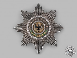 Prussia, Kingdom. A Rare Order of the Black Eagle, Star to the Cross of the Order, c.1825