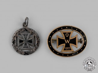 Germany, Imperial. Two Iron Cross Badges, 1915