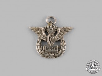 Germany, Imperial. A Prussian State Railway 25-Year Long Service Badge Miniature