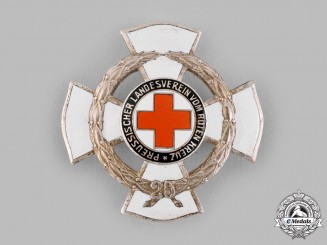 Germany, Weimar Republic. A Prussian Red Cross 25-Year Honour Badge by Godet