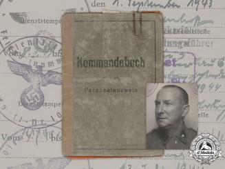 "Germany, SS. A Rare Kommandobuch To NSKK-Truppführer of VoMi Sonderkommando ""Russland"""