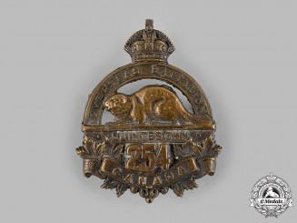 "Canada, CEF. A 254th Infantry Battalion ""Quinte's Own"" Cap Badge"