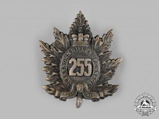 "Canada, CEF. A 255th Infantry Battalion ""Queen's Own Rifles"" Cap Badge"