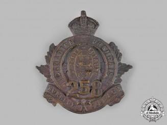 Canada, CEF. A 258th Infantry Battalion Cap Badge