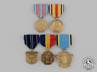 United States. A Lot of Five Medals