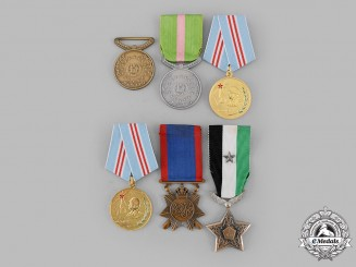 Afghanistan, Iraq, Syria, Yemen. Lot of Six Medals