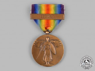 United States. A World War I Victory Medal, Escort
