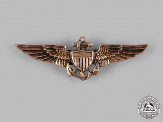 United States. A Naval Aviator Badge, by Amico, c.1939