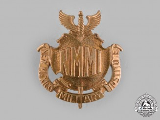 United States. A New Mexico Military Institute (NMMI) Cap Badge, by N.S. Meyer, c.1935