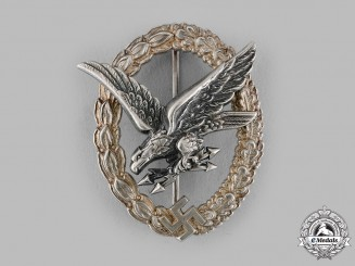 Germany, Luftwaffe. A Radio Operator and Air Gunner Badge by Berg & Nolte
