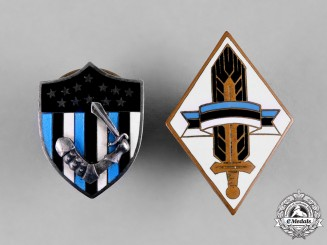 Estonia, Republic. A Pair of Patriotic Badges, by Roman Tavast