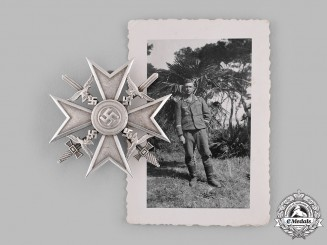Germany, Wehrmacht. A Spanish Cross in Silver, by Steinhauer & Lück, with Recipient Photo