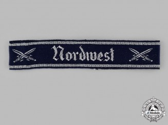 Germany, NSRK. A National Socialist Reich Warriors Association Kyffhäuser Nordwest Chapter Cuff Title