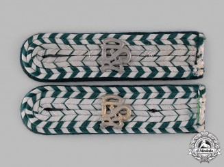 Germany, Reichsfinanzverwaltung. A Set of Reichsfinanzverwaltung (Customs Service) Zollbetriebsassistent Shoulder Boards